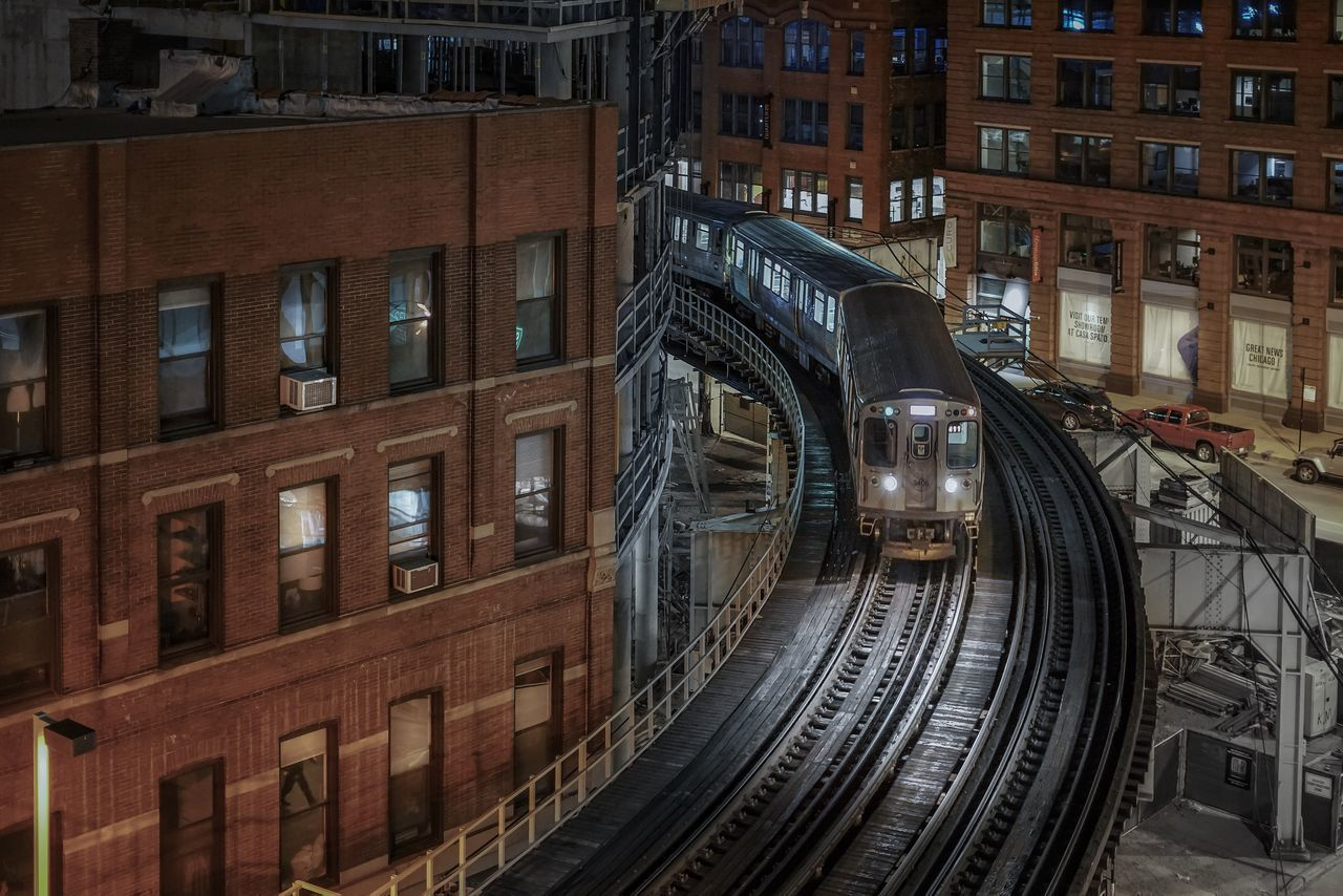 Chicago Architecture Building Exterior Built Structure Chicago Chicago Architecture Chicago Illinois City City City Life Loop Night Nightphotography No People Outdoors Train Train Station Transportation Urban