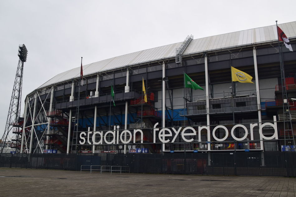 Architecture Building Building Exterior Built Structure City City Life Day Development Exterior Feyenoord Feyenoord Rotterdam Football Stadium Low Angle View Modern No People Outdoors Rotterdam Sky