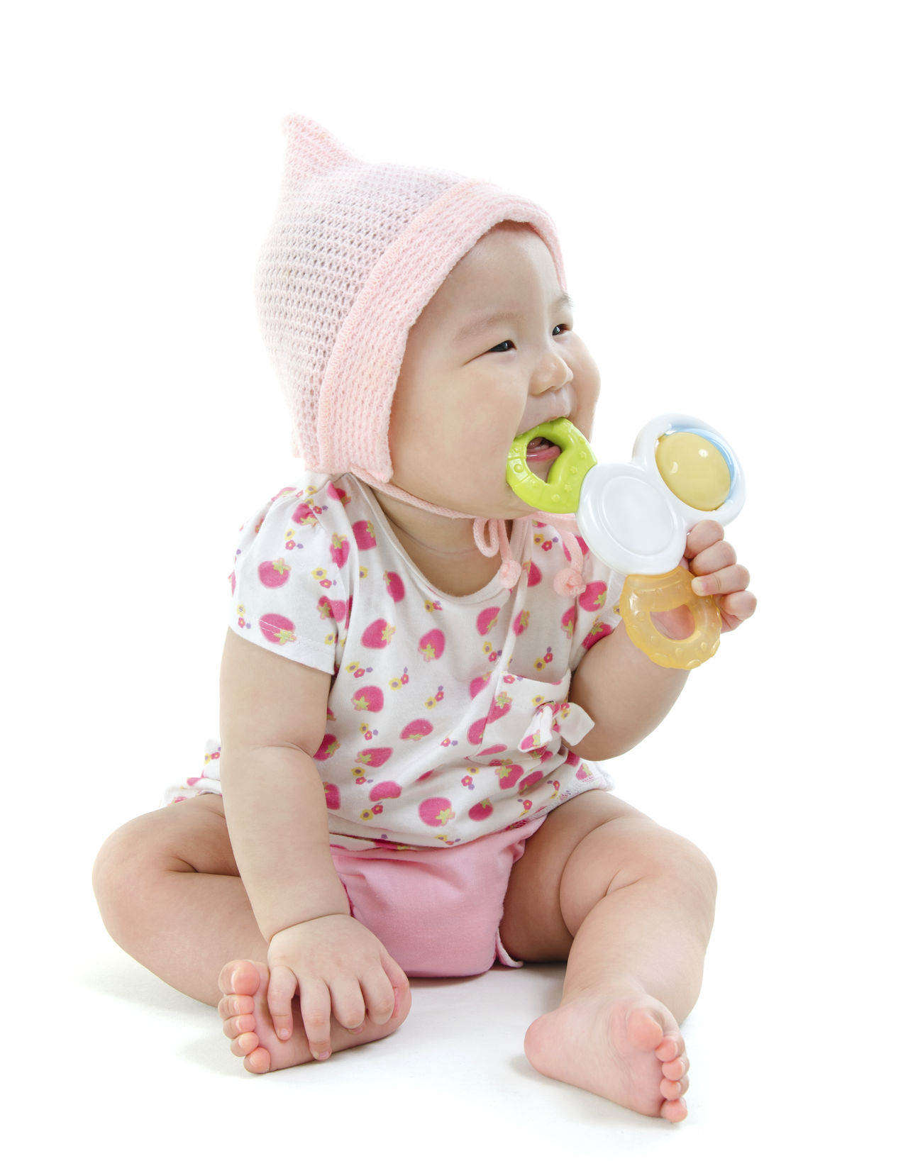 Baby Cheerful Child Childhood Children Only Day Drink Drinking Eating Flavored Ice Food And Drink Frozen Food Full Length Happiness Human Body Part Ice Cream Ice Cream Cone One Person Outdoors People Pink Color Smiling Summer Sweet Food White Background