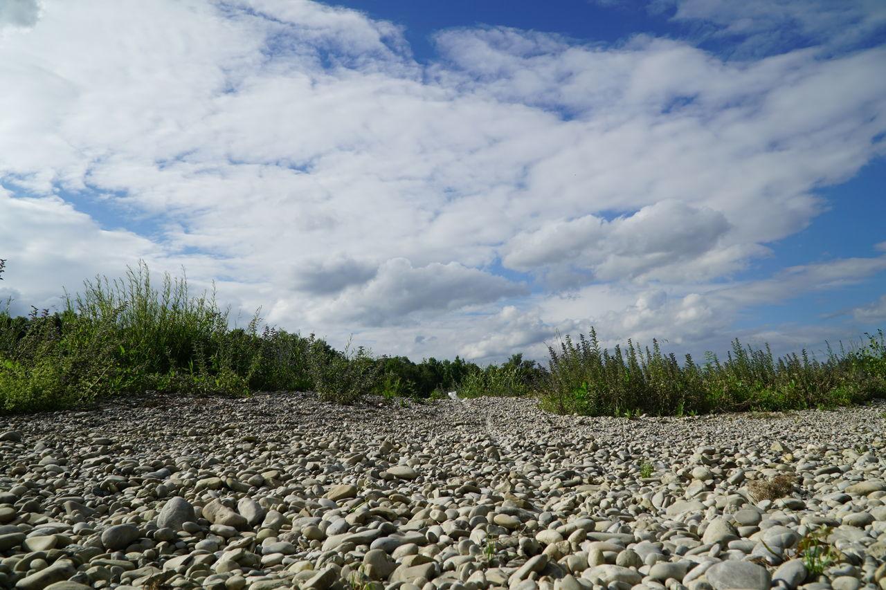 Allone  Cloud - Sky Riverside Silent Silent Landscape Silent Moment Stone Summer