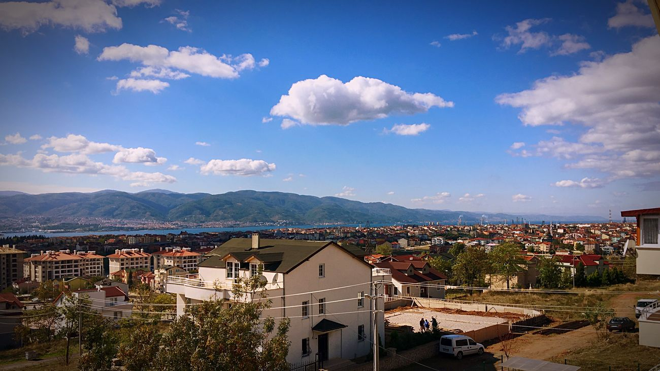 View Lough Mountain Mountains City Clouds And Sky Cloud - Sky Cloud Water Körfez Izmit Sky Sky And Clouds Clouds Cloudy