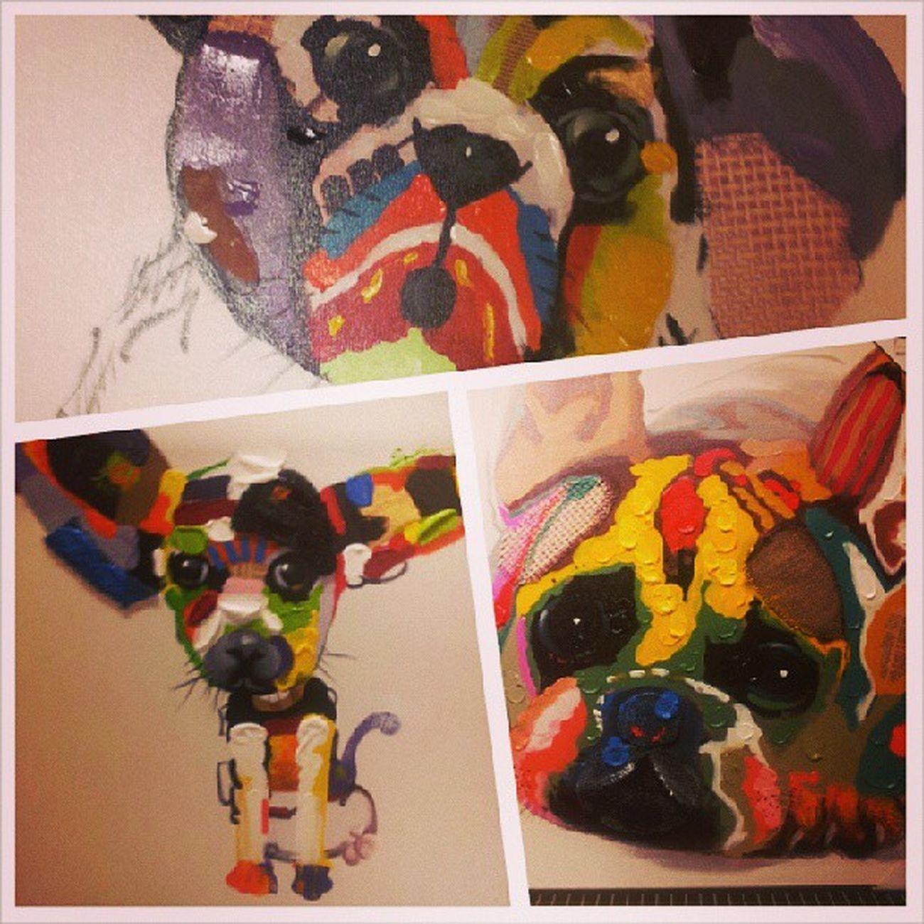 Dessa tavlor är nog dom finaste jag någonsin sett! Give meeee!! :)) Bulldog Chiuahua Iwantadog