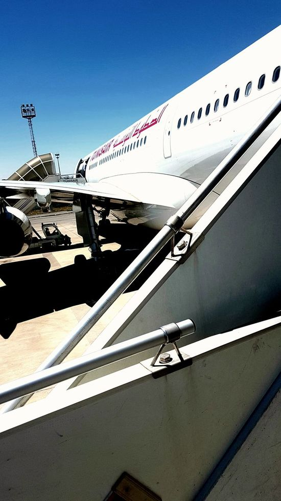 Plane Clear Sky Sky Day Sunny Sunlight رمضان تونس تونس_بلاد_عريقة Tunisie FunnyMoments  Tounes Tunis Picture Shooting Avion Airplane Outdoors Planes Tunisair Companies