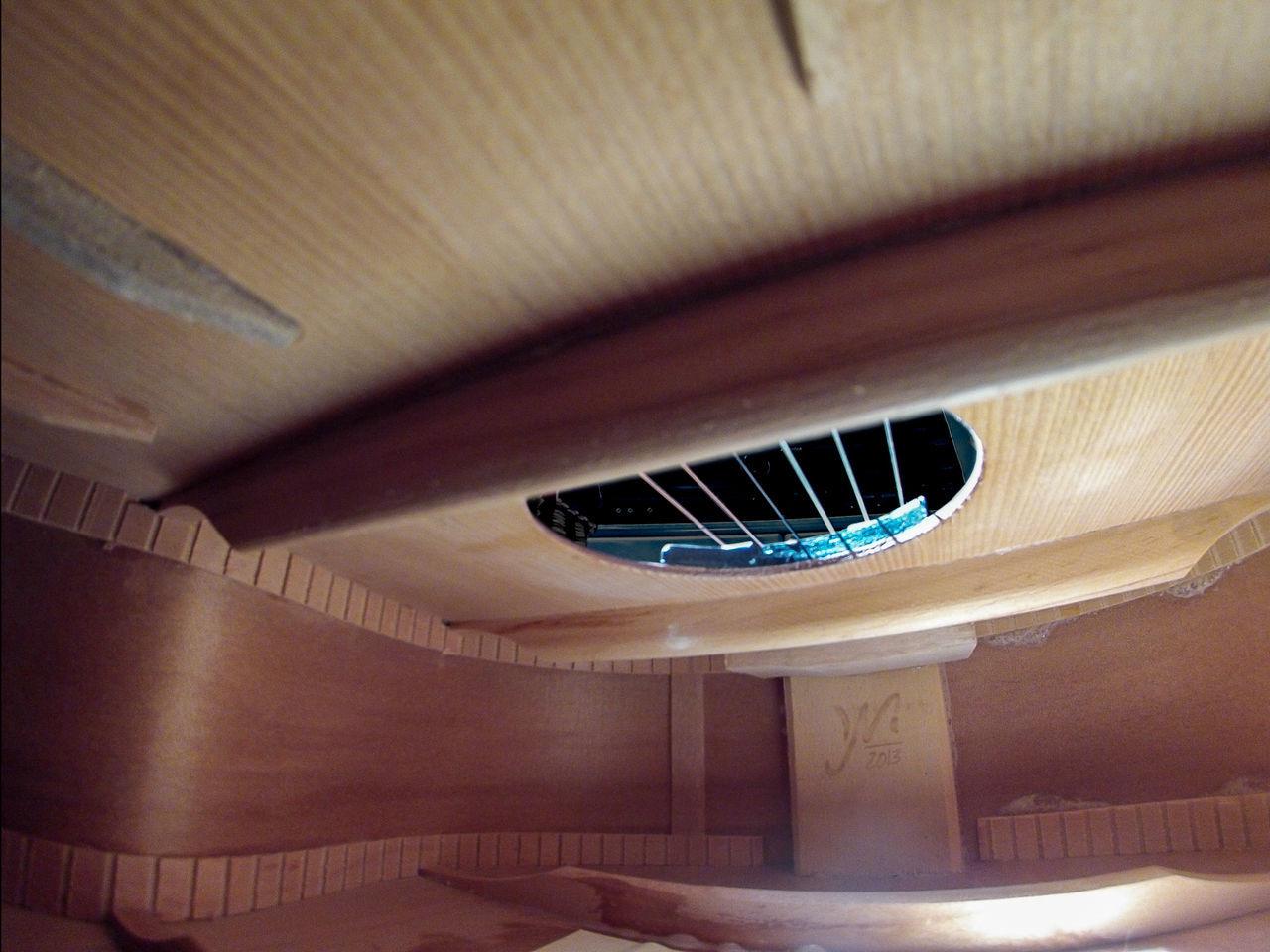 Classical Guitar Guitar Inside Inside Things Music Musical Instrument String Instrument Strings Unusual View