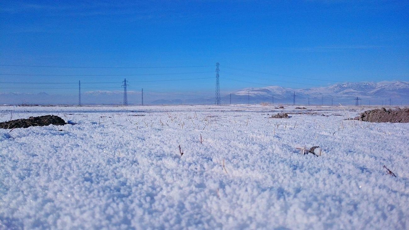 Kar Dağ Kış Landscape Manzara