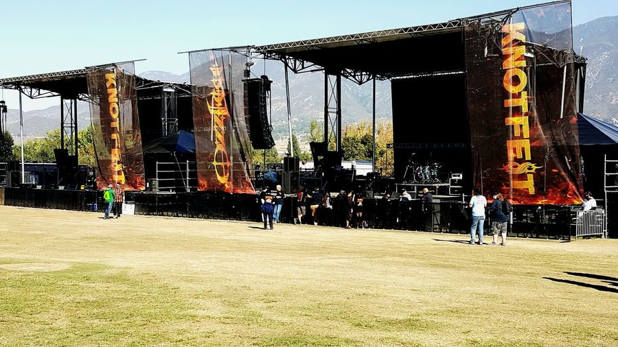 Ozzfest People Outdoors Before The Show! Heavy Metal Southern California