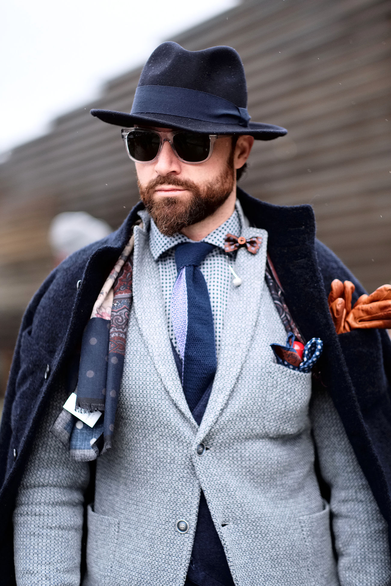 Picture of Fadi taken at the 91th edition of Pitti Immagine Uomo in Florence. Check out my blog for the full story! Beard Fashion Fashion Fashionable Front View Glasses Hat Male Men Outdoors Rain Rainy Days Real People Streetstyle Style