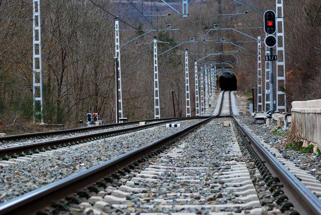 Railway Track Trains High Mountains