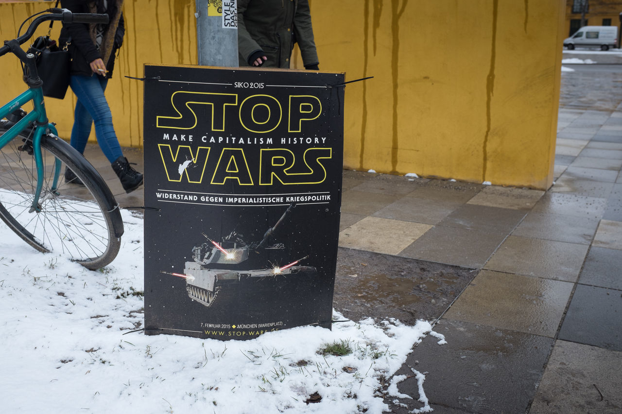 Stop Wars Msc Munich Munich Security Conference Poster Streetphotography Star Wars