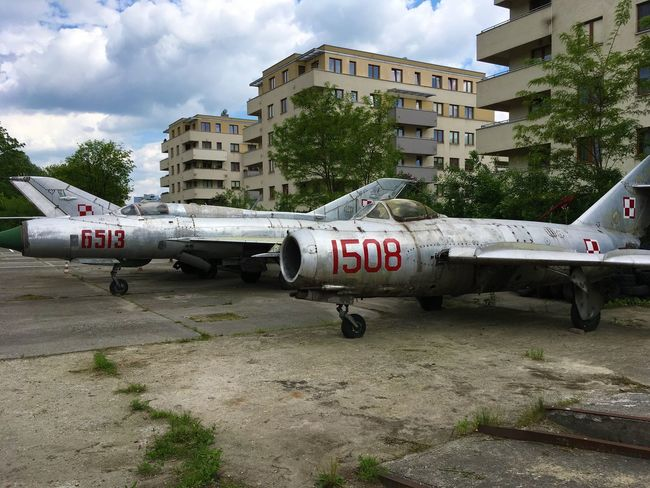 Architecture Army Building Exterior Built Structure Cloud - Sky Cold War Cold War Relic Day Fighter Jet Fighter Plane Jet Engine Migs Military Nose Outdoors Polish Airforce Polish Military Russian Aircraft Russian Airforces Russian Military Sky War Planes Winged Wings Wingspan