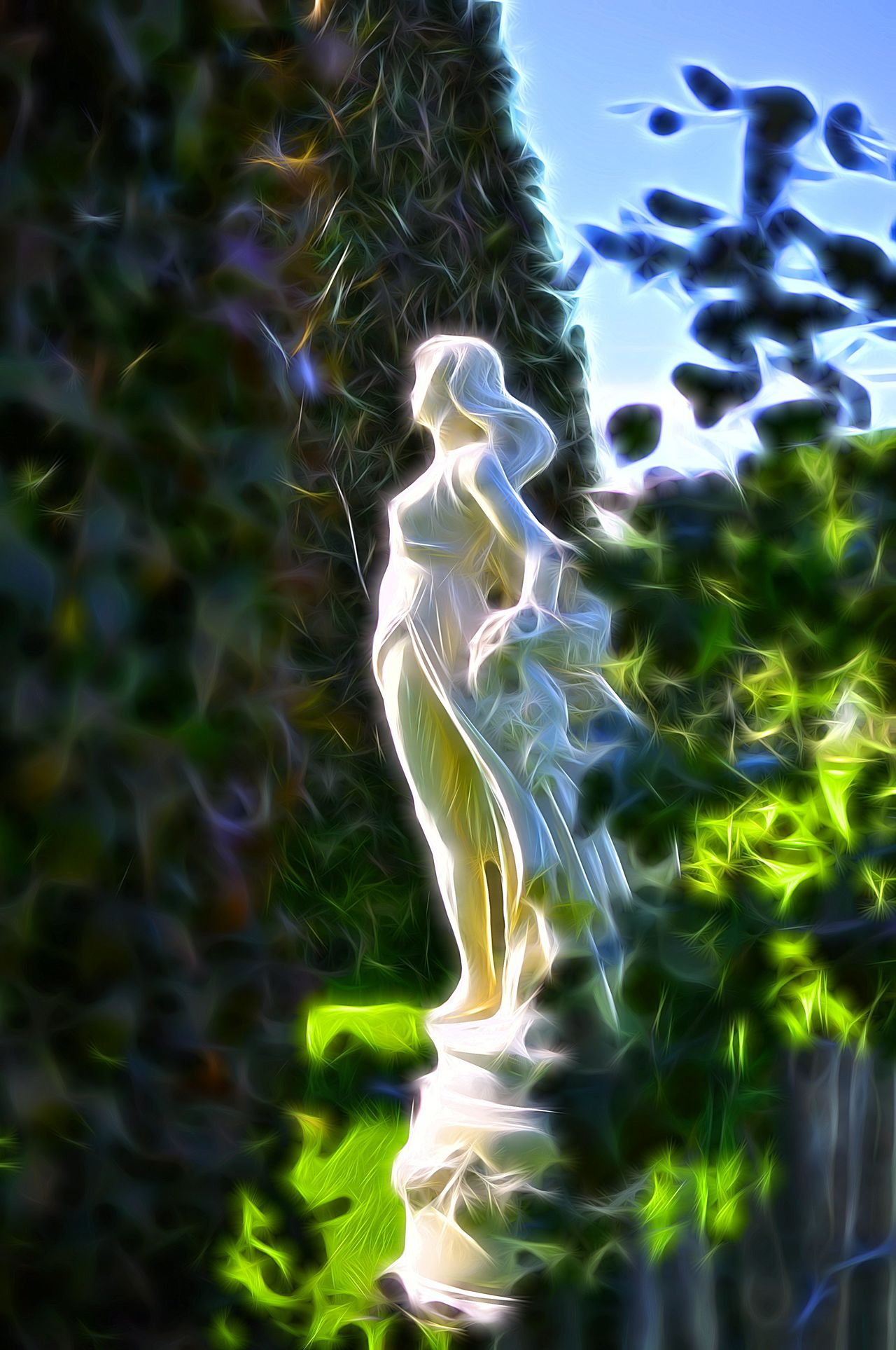 Gardens Jixipix Spektrel Art Statue Sunshine NEM Painterly