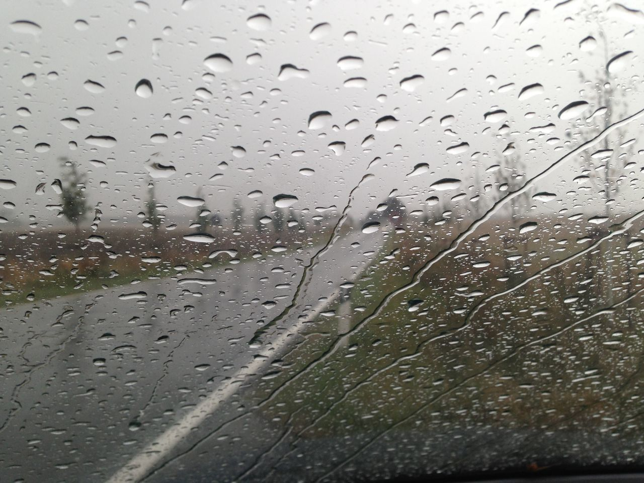 Aquaplaning Bad Visibility Car Window Drawing No People Pouring Rain Rainy Relaxing Streeetphotography Water Wet Window Windshield