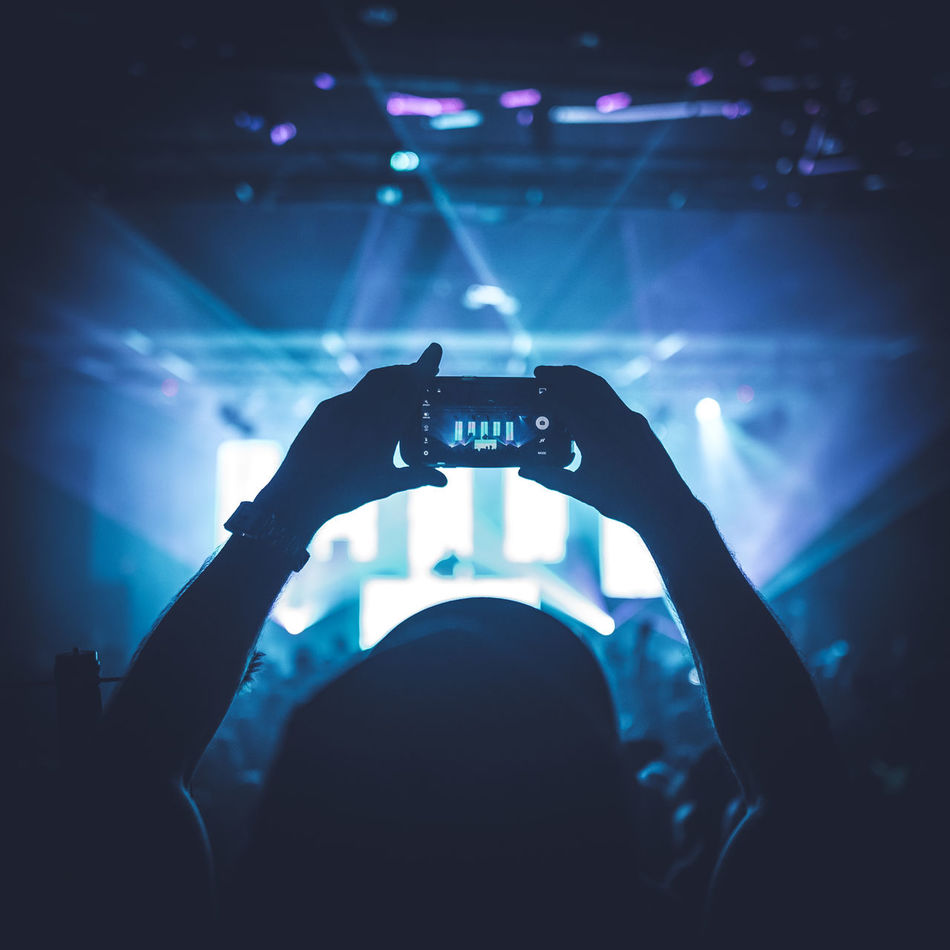 Beautiful stock photos of technology, Arms Raised, Arts Culture And Entertainment, Audience, Blue