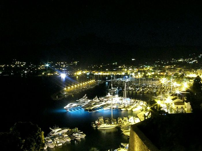 Aerial Shot So exited to take part of this mission! This is one of my fav aerial shots where lights look like diamonds! Hope you like it! Fromruins Corse Canon Night Lights Water Harbour Mypointofview