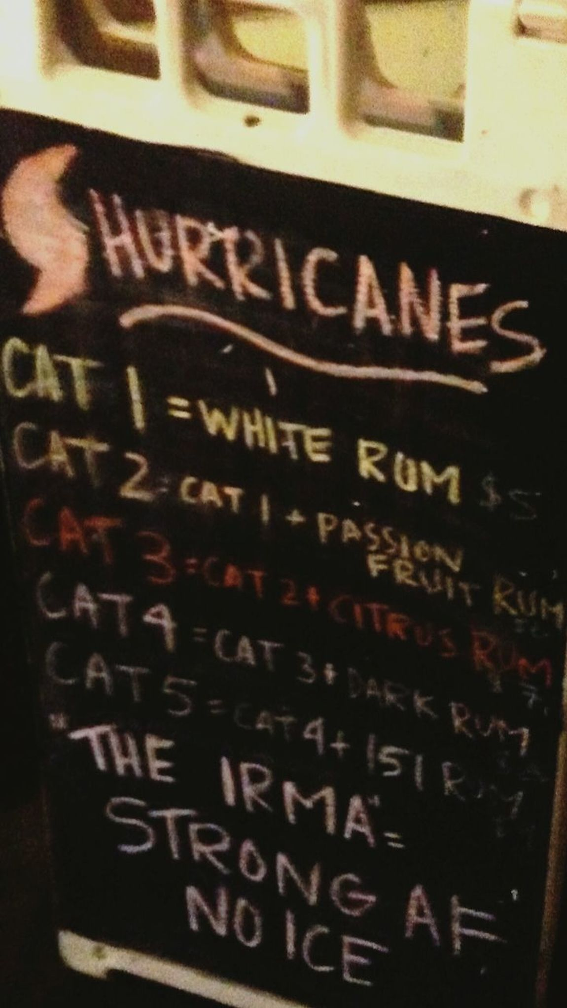 Text Retail  No People Food And Drink Drink Day Indoors  Close-up Drink Special Virgin Islands St Thomas, VI St. Thomas, Virgin Islands The Smoking Rooster Irma And Maria 2017 Travel Destinations Drinks! Rum Cat5 Category 5 Hurricane