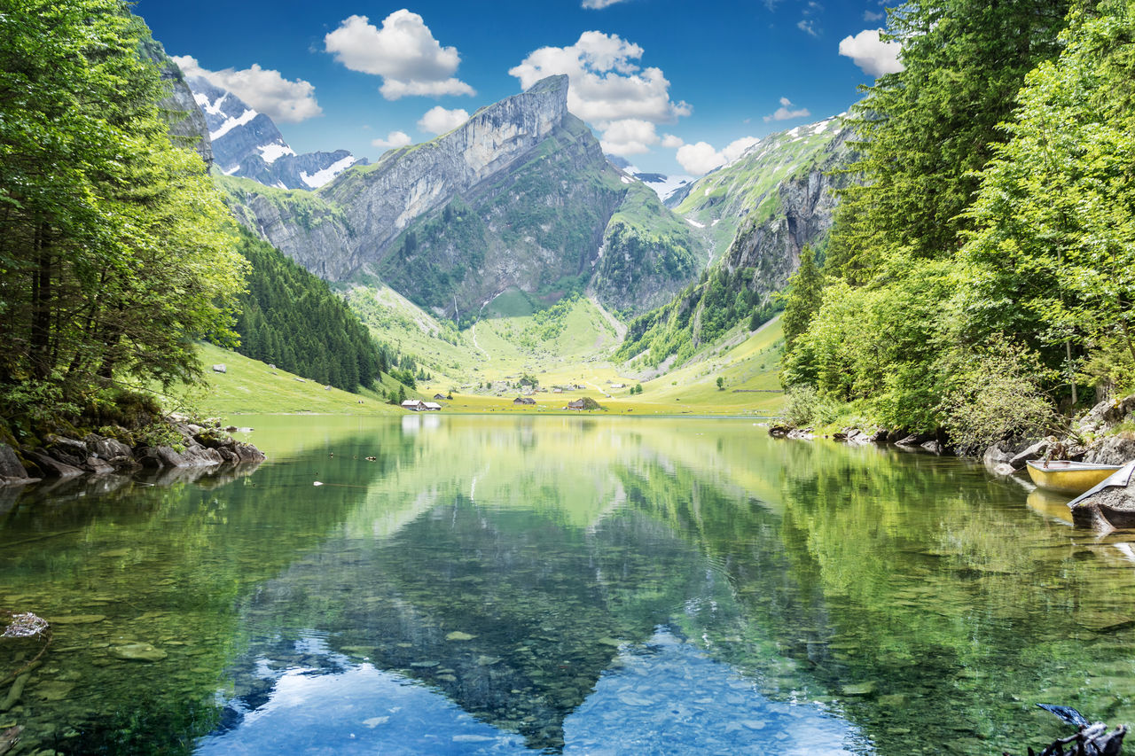 Alpstein Alpstein Alpes Awesome Beautiful Nature Clouds Environmental Conservation Hiking Lake Landscape Mountain Range Nature Seealpsee Summer Switzerland Water