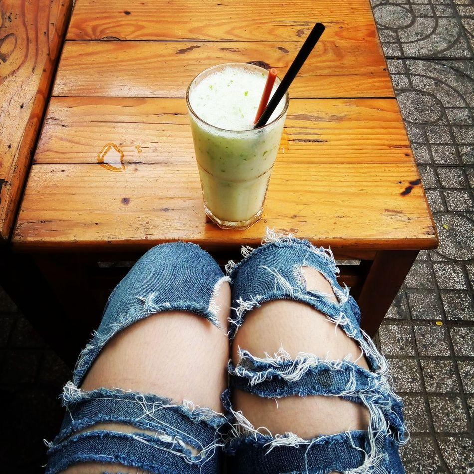 Daily style Drink Human Leg Food And Drink Real People Coffeeshop Hochiminh Frommyview Bymyfone Outdoors Travel Traveling Fruit Fruit Juice Lemon Lemonjuice Style Dailystyle