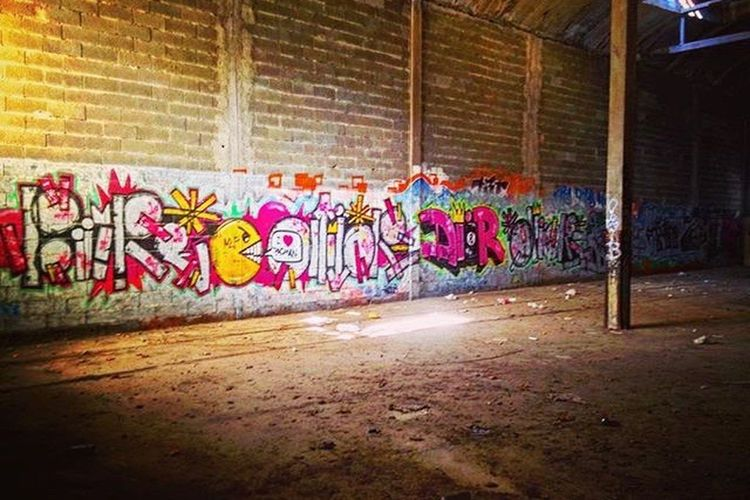 Graffiti Street Art Creativity Spray Paint Art And Craft Brick Wall No People First Eyeem Photo