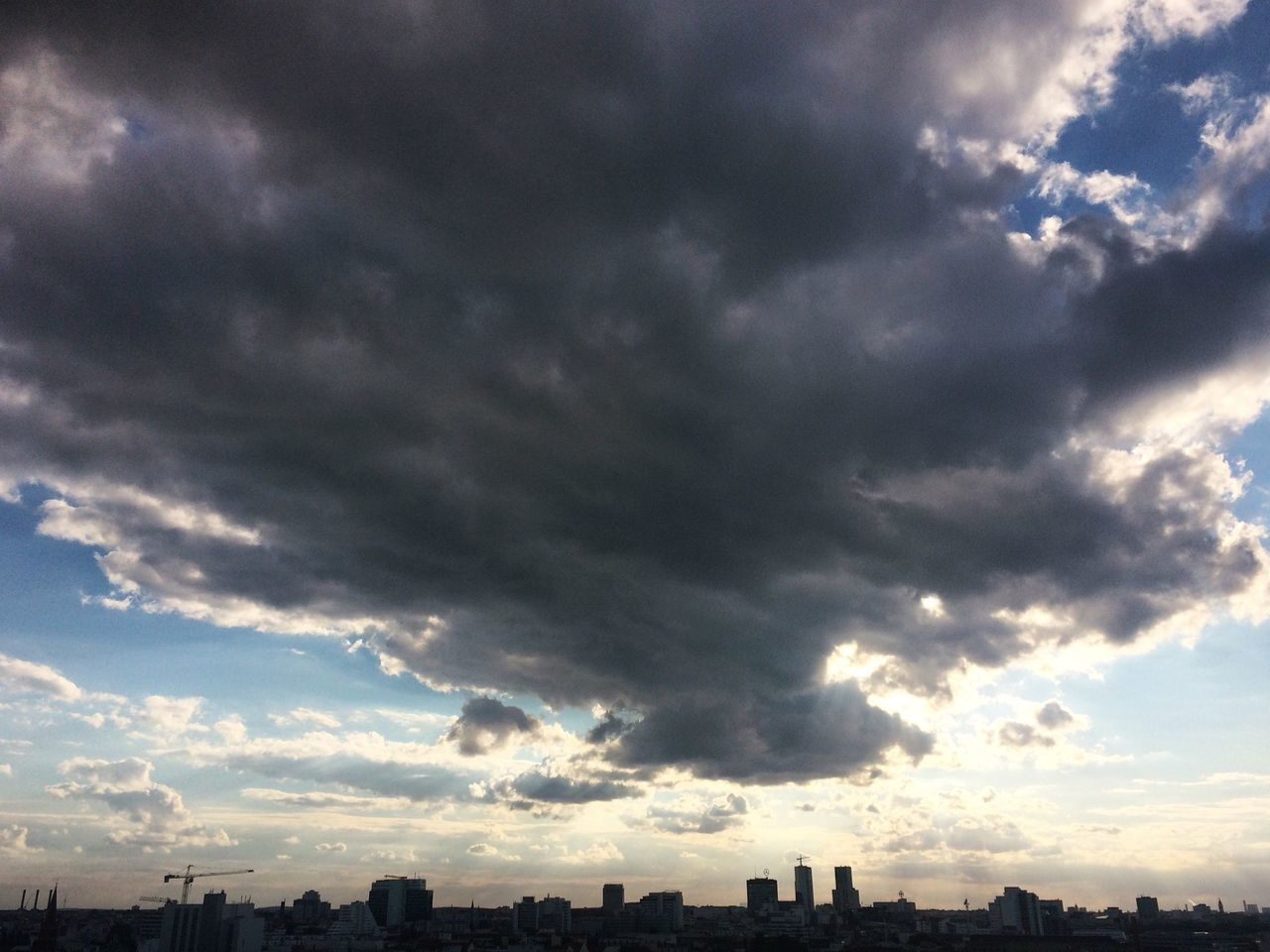 Berlin Skyline Clouds And Sky Cloudscape Cityscapes Cloud - Sky Berlin Photography Berlin Life