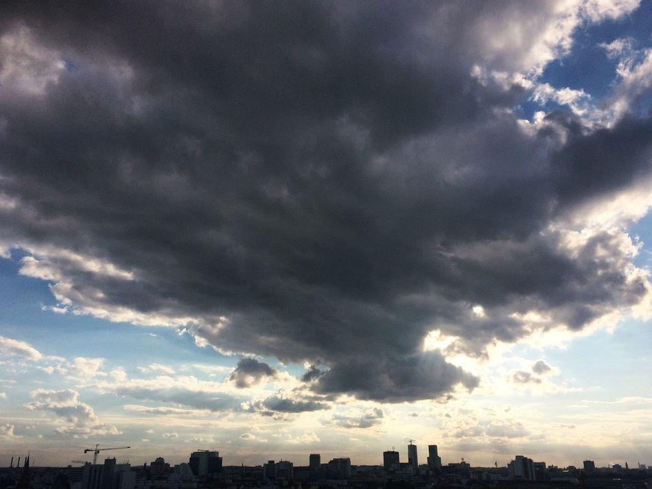 Berlin Skyline Clouds And Sky Cloudscape Cityscapes Cloud - Sky Berlin Photography Berlin Life