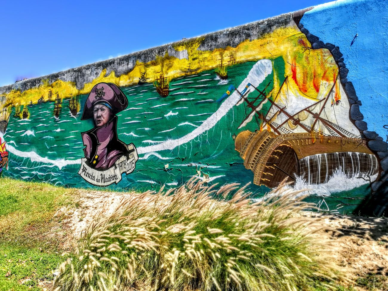 Streetart Political Street Art Jack Sparrow from Madeira Island
