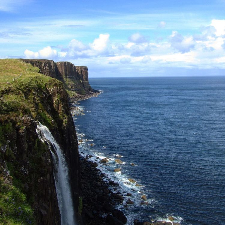Kilt Rock, Isle of Skype, Scotland. Kilt Rock Waterfall Scotland Island Bestview Strongwind Nature Nature Photography Beauty In Nature The Great Outdoors - 2017 EyeEm Awards