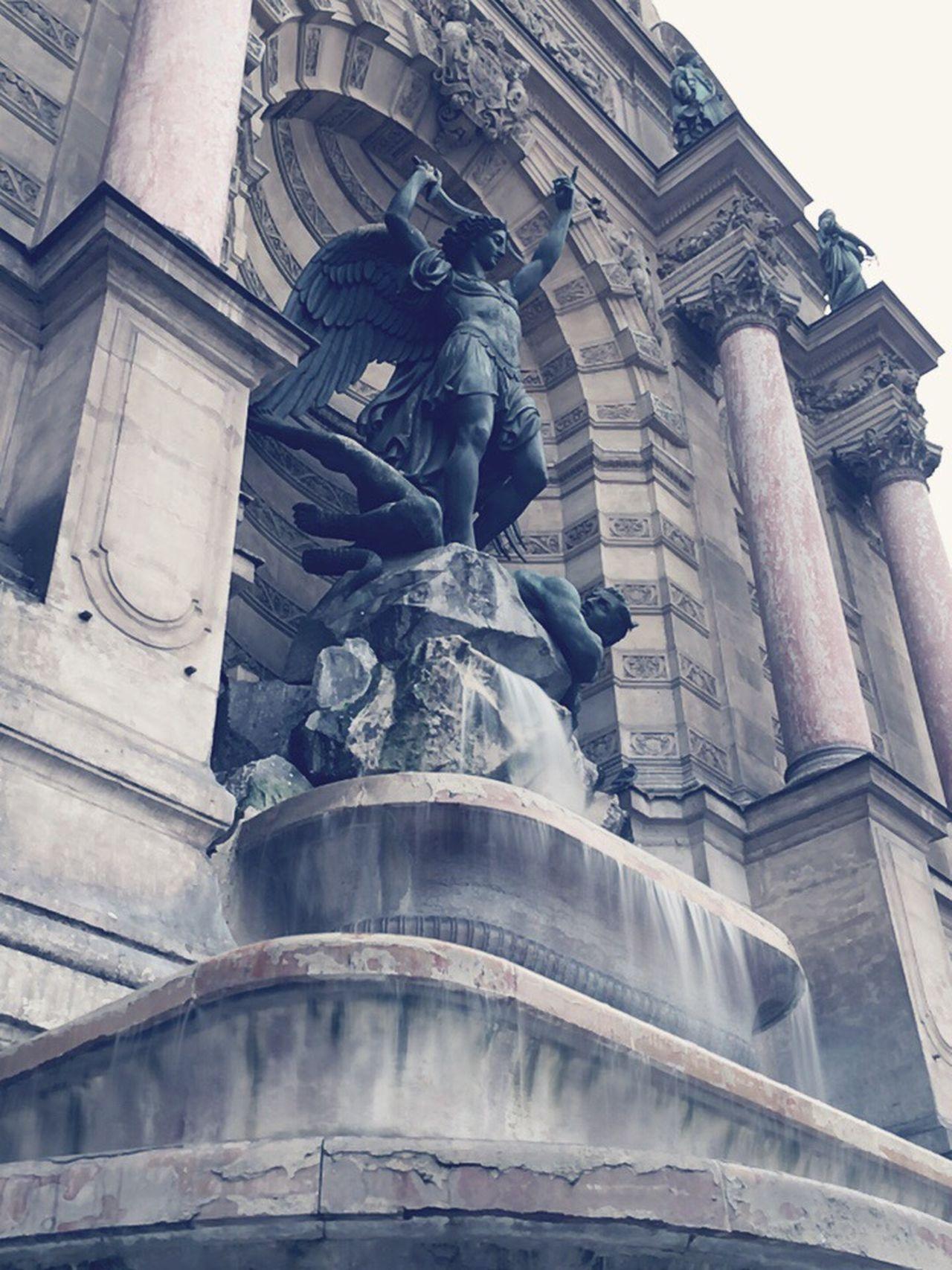 Paris Paris ❤ Paris, France  Fountain Fountains Fontaine Saint-Michel Paris Fontain Statue