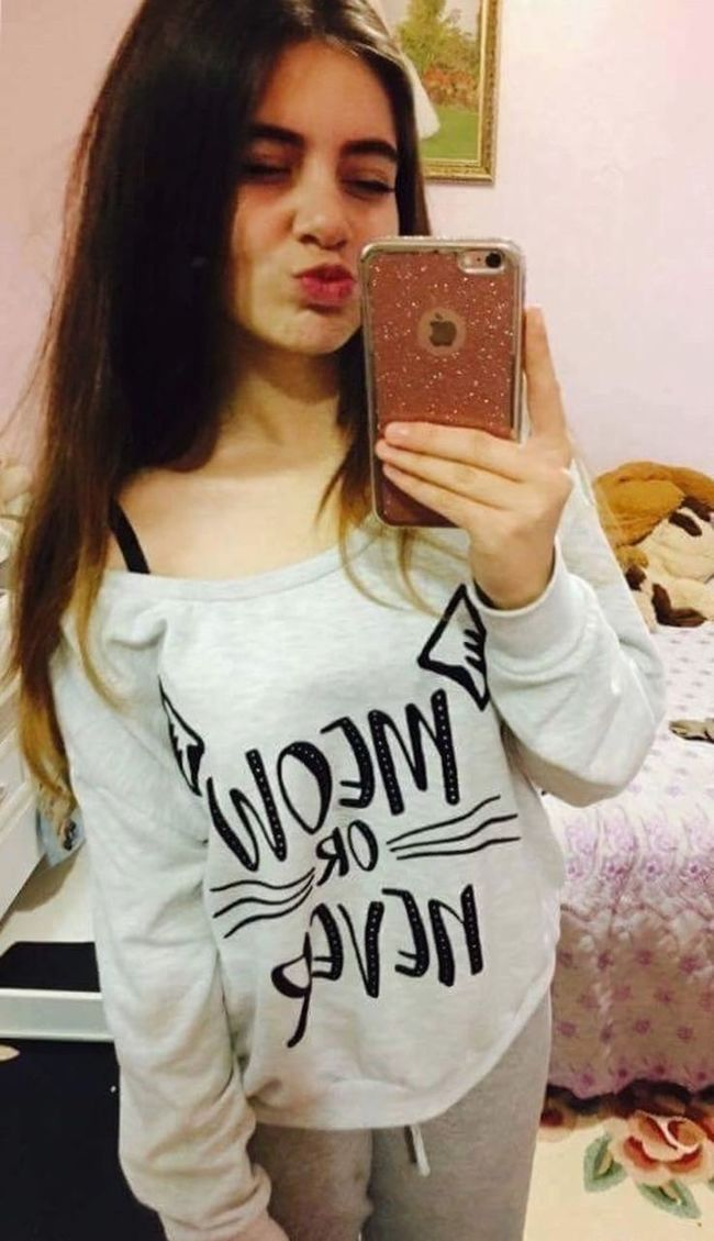 Meow🐱 Spam Child Standing Text Casual Clothing Holding Young Adult Leisure Activity Communication Young Women Long Hair T-shirt Person