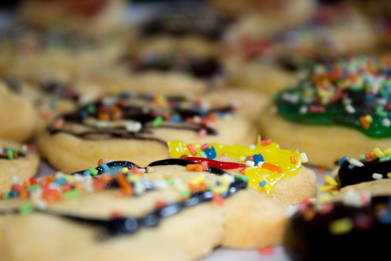 Biscuits Christmas Biscuits Creativity Griddle Indoors  Large Group Of Objects Multi Colored Schoklad Sugar Sprinkles The Culture Of The Holidays