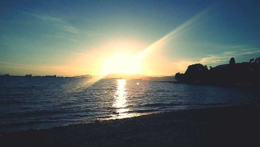 English Bay. Sun Set Never Ending Nights