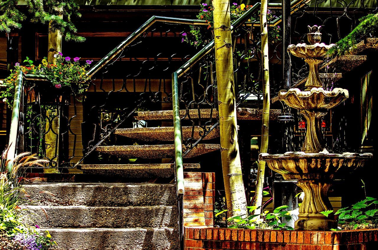 I came upon a random Courtyard  Stairways Flowers The Street Photographer - 2015 EyeEm Awards Stairs Urban Exploration Eye4photography  Fountain Architecture Urban
