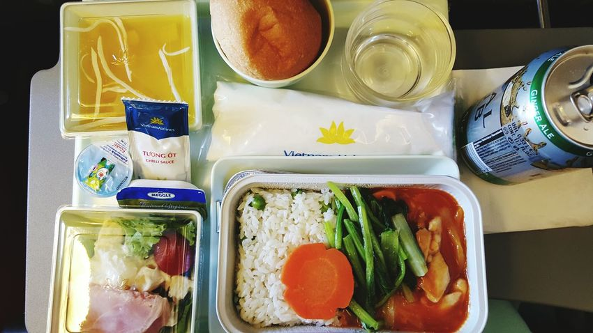Vietnam Airline Lunch Chicken With Sweet And Sour Sauce 푸딩이 내 입맛!