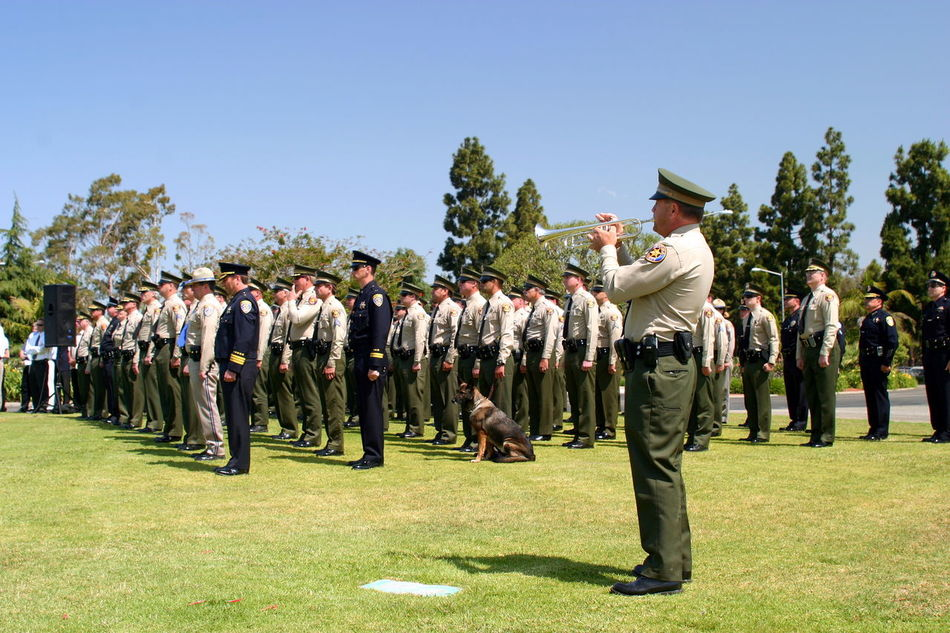 Ventura County Peace Officers Memorial Service Ventura County Peace Officers Memorial service Thursday, May 22, 2008 Arms Army Attention Badge Celebration Ceremony Devotion Enforcement Formal Funeral Guard Guards Honor Honour Law Memorial Patriotic Peace Officers Police Protection Service Soldier Uniform Ventura Ventura County