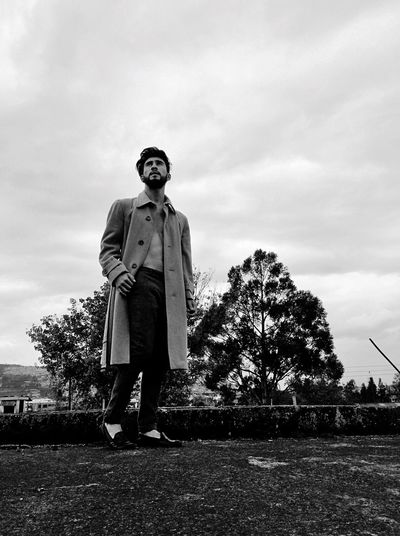 Noir.. Real People Sky Full Length Standing One Person Low Angle View Cloud - Sky Outdoors Men Portrait Modelboy Malemodel  Menwithstyle Fashion Fashion Photography