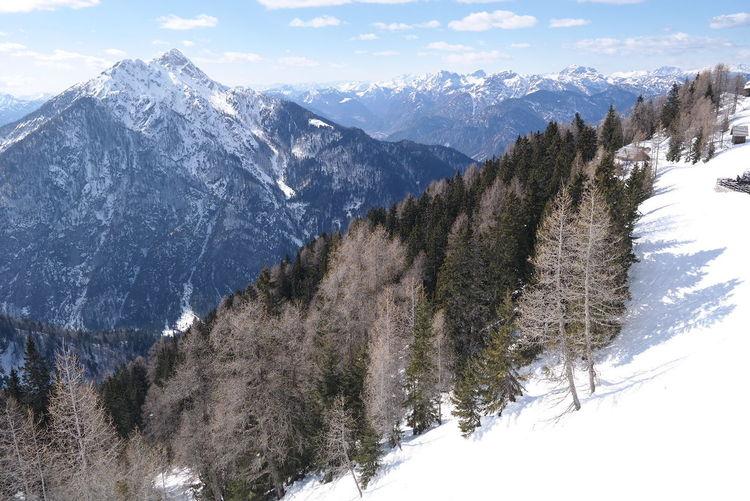 Mountain Snow Day Landscape Monte Lussari