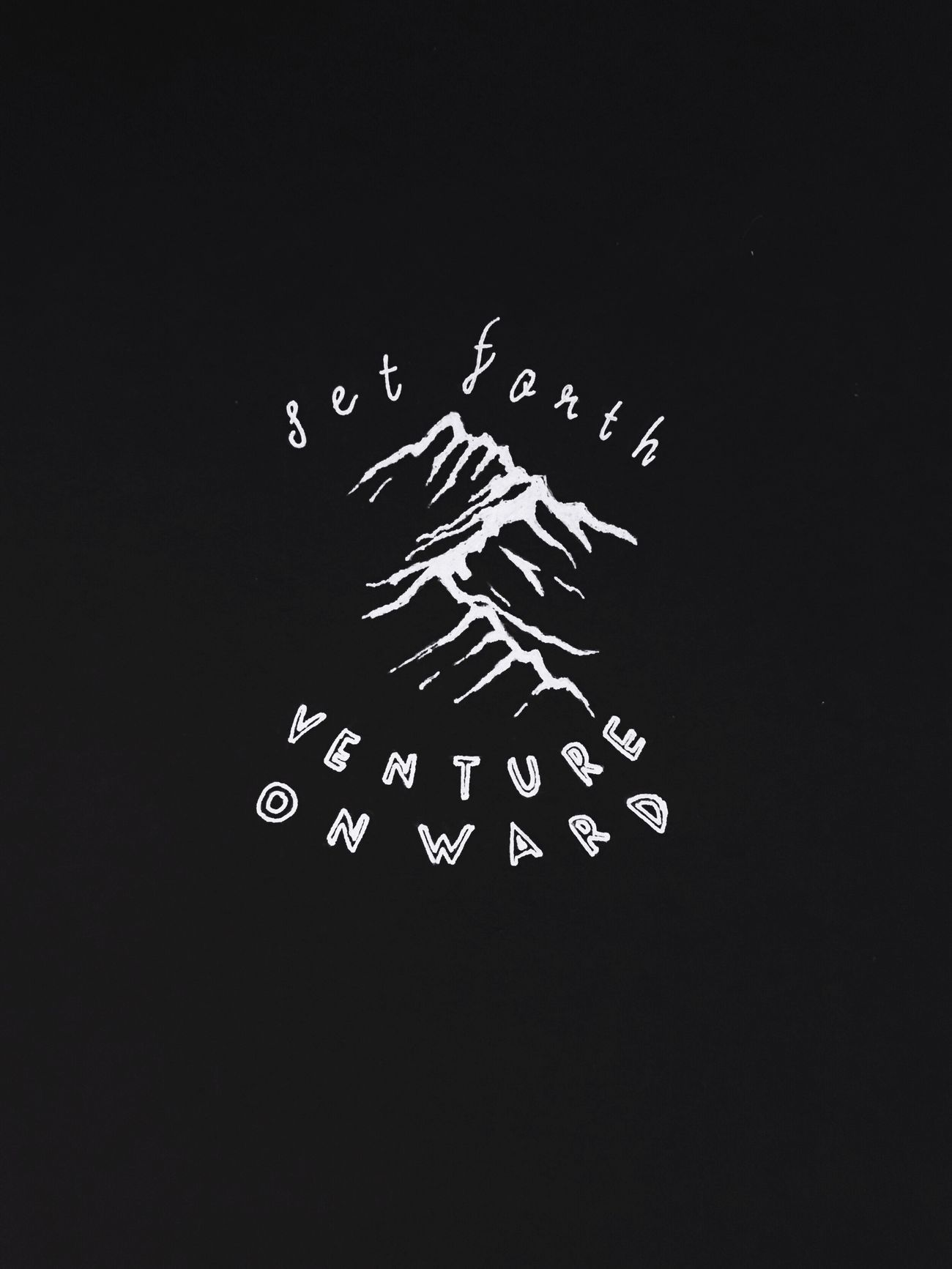 Set Forth, Venture Onward. Hand-drawn logo by @minijukes Branding Hand Drawn Logo Adventure Venture Mountain Sketch Doodle Artline Calligraphy Typography First Eyeem Photo