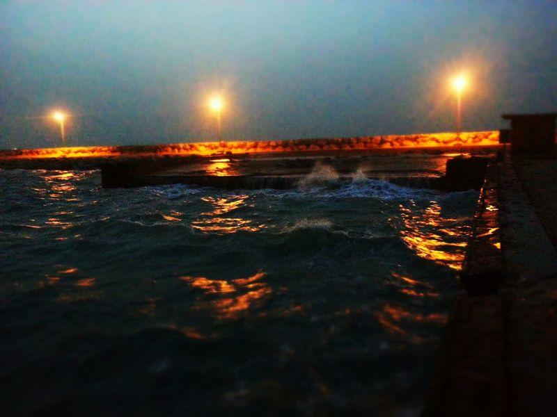 Aljubail Night Sea