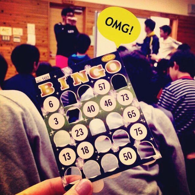 はい、日頃の行い悪い人はビンゴなりませんよ〜。by コーチ Bingo Game Playing Omg