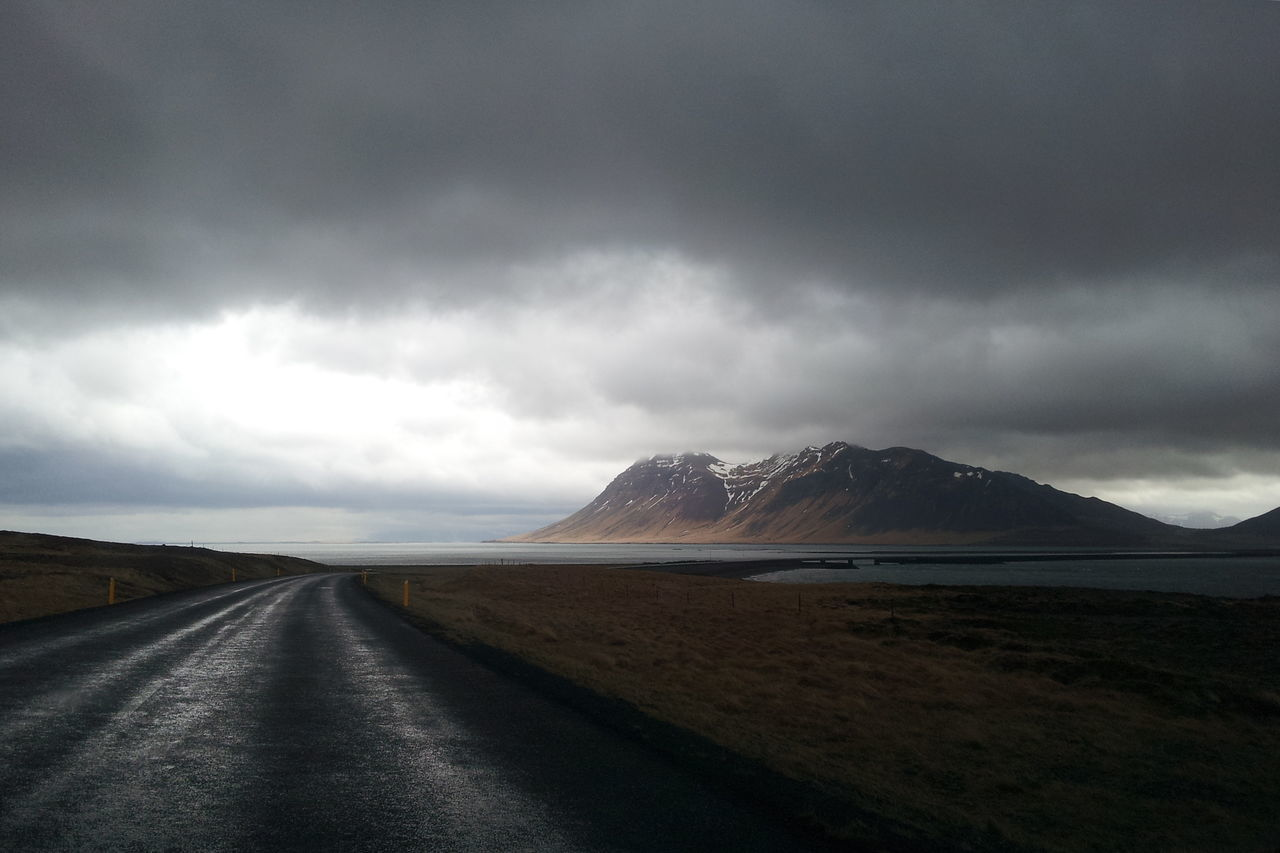 Downfall mood Adventure Beauty In Nature Cloud - Sky Dark Dark Sky Gloomy Weather Hike Iceland Landscape Mountain Nature No People Outdoors Road Scenics Sky Storm Storm Cloud The Way Forward Travel Travel Photography Traveling
