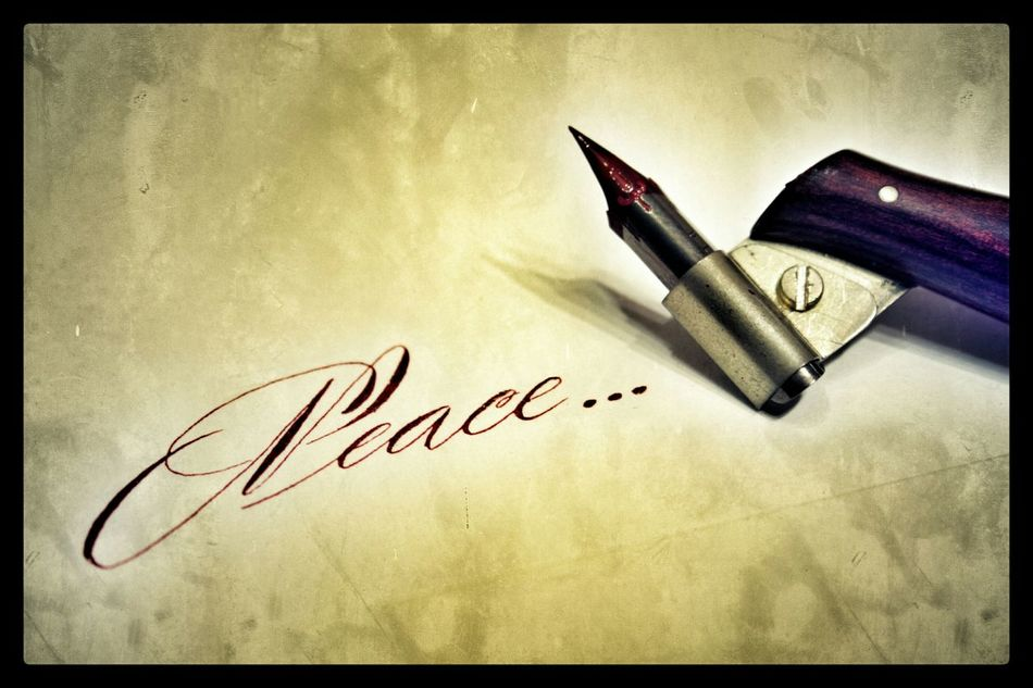 My Calligraphy ArtWork - Peace :)