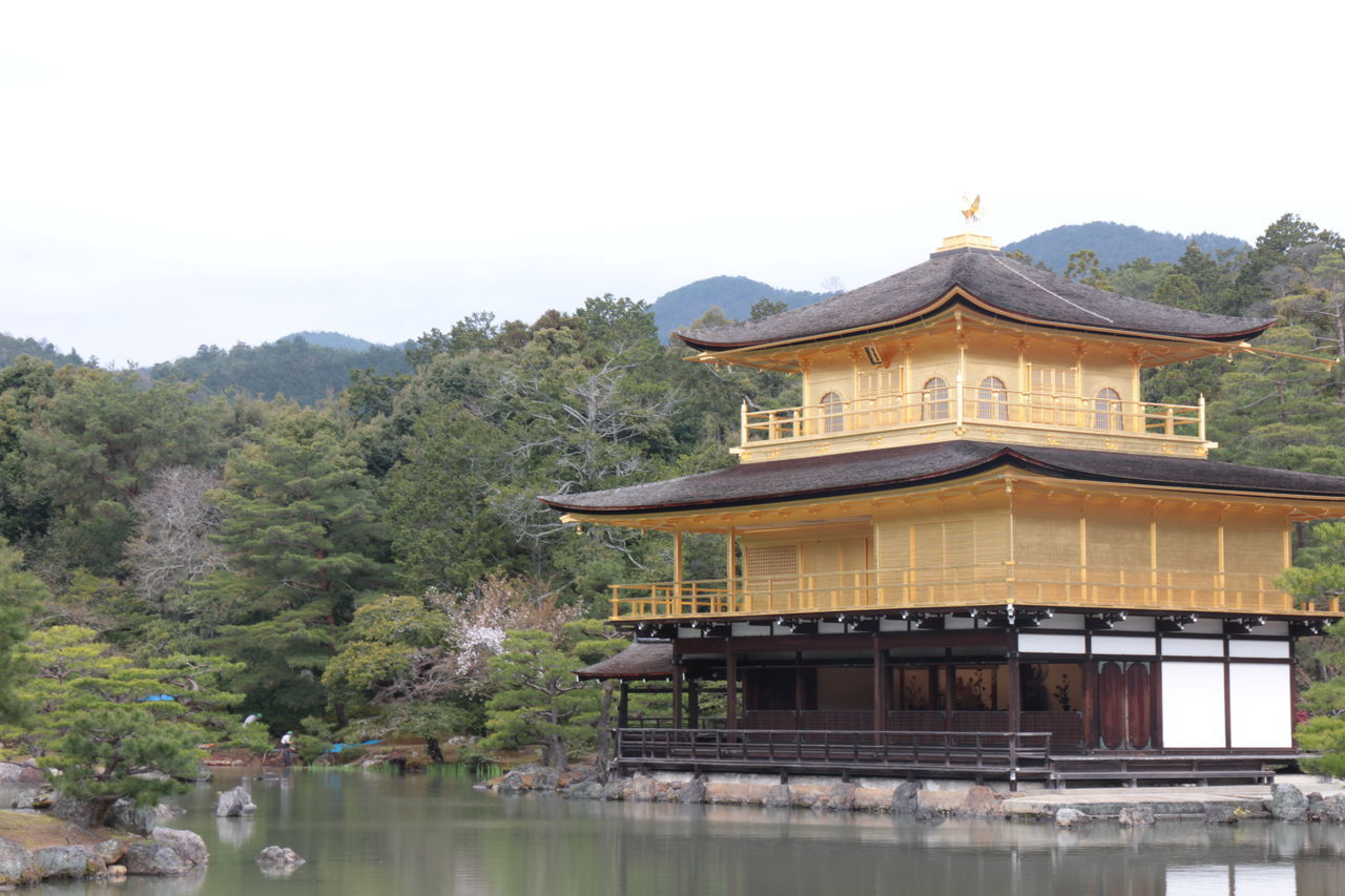 Architecture Building Exterior Built Structure Day Gold Golden Temple Japan Japan Photography Kinkakuji Temple Kyoto Lake Nature No People Outdoors Scenics Sky Tree Water Waterfront