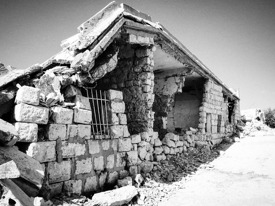 Khiam Lebanon 🇱🇧 Detention Center Built Structure Architecture Old Ruin Building Exterior History Old Abandoned The Past Ancient Ancient Civilization Clear Sky Weathered Obsolete Sunlight Bad Condition Damaged Ruined Outdoors Day No People Blackandwhite
