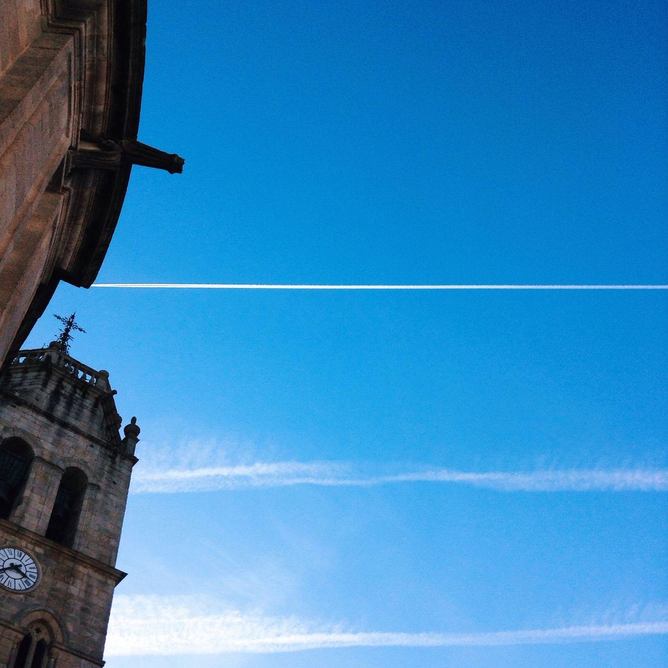 A direct line to god via Catedral De Lugo . Teach the Contrail conspiracy! Shoot, Share, Learn - EyeEm Lugo Meetup