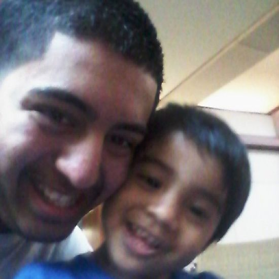 My little brother and I