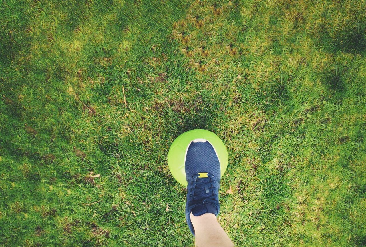 Beautiful stock photos of soccer balls, Copy Space, Day, Directly Above, Grass