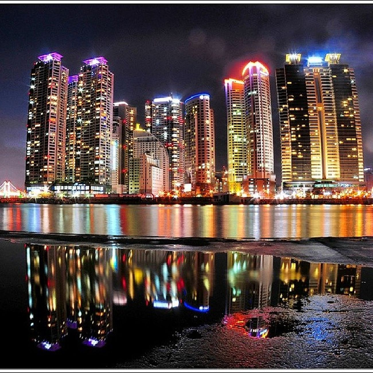 해운대  마린시티  동백섬 Marine_city Haeundae Busan Dongbaek_island night_view instagram_ios