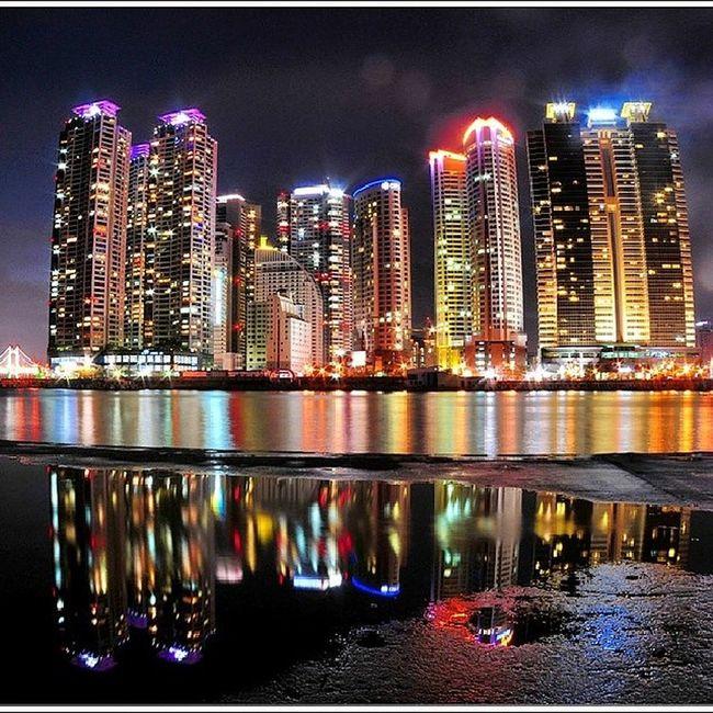 해운대  마린시티  동백섬 Marine_city Haeundae Busan Dongbaek_island night_view instagram_ios