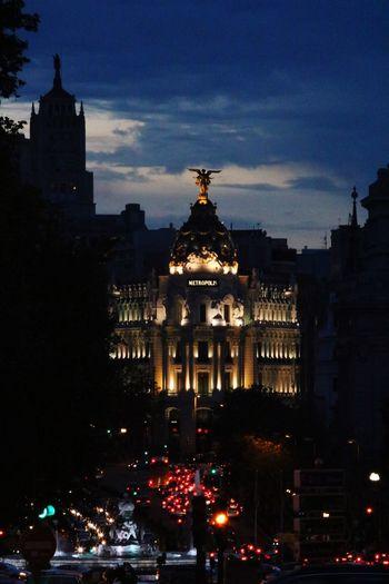 Cibeles Madrid SPAIN Atardecer Cielo Fotografia