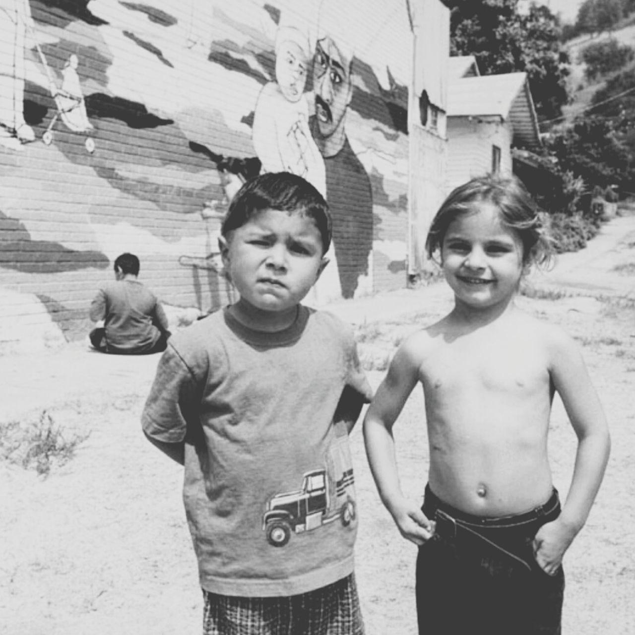 Beautiful stock photos of kinder, childhood, boys, brother, waist up