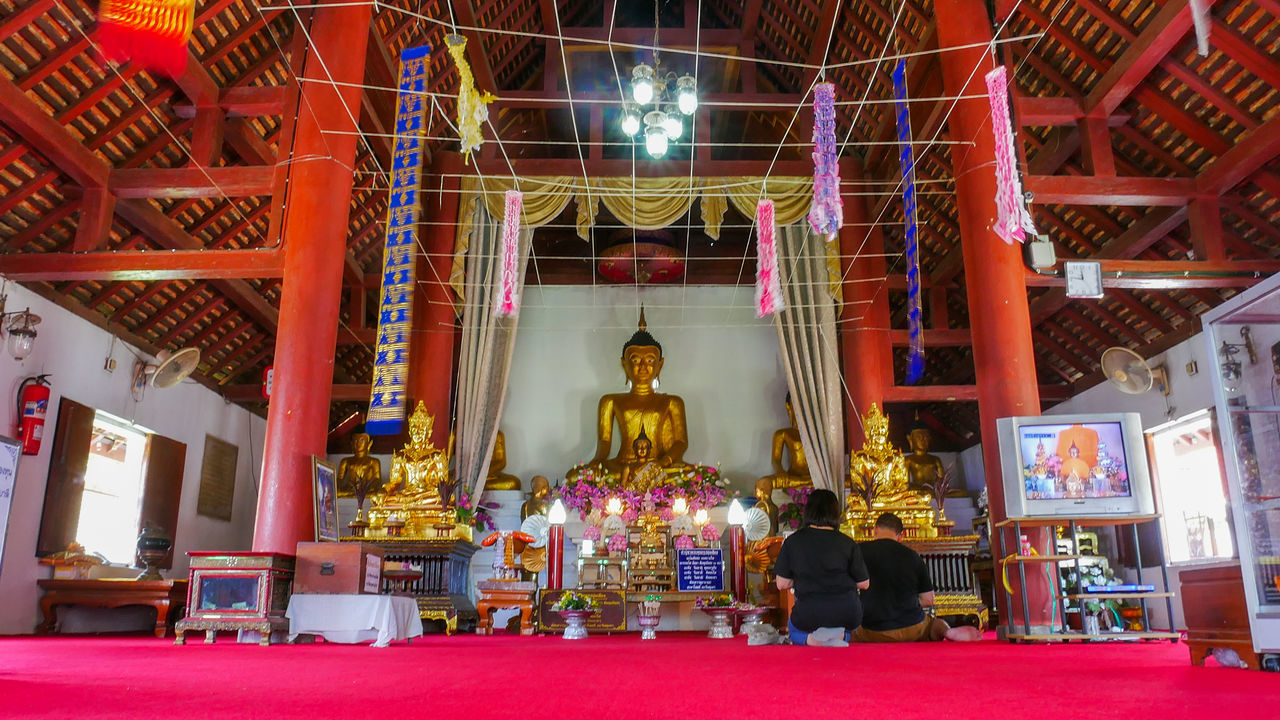 Architecture Day Gold Gold Colored Human Representation Illuminated Indoors  Male Likeness No People Place Of Worship Religion Sculpture Spirituality Statue